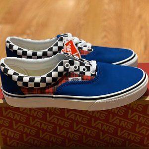 Vans Era Plaid Checkerboard Blue & Racing Red Shoe